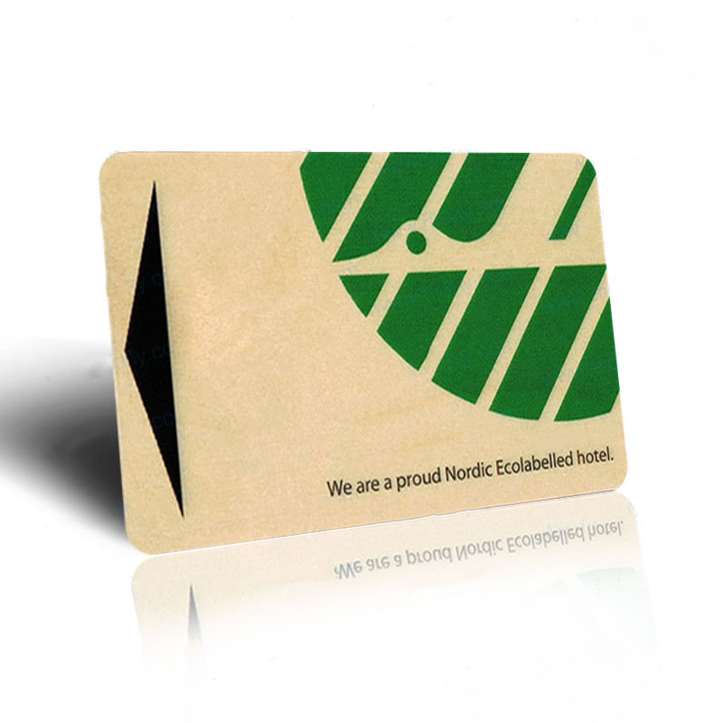 Walnut and cherry rfid wood business cards with QR codes engraved ...